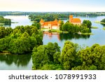 aerial view of old castle.... | Shutterstock . vector #1078991933