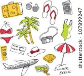 summer vacation holiday icons... | Shutterstock .eps vector #107899247