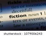 Small photo of fiction word in a dictionary. fiction concept