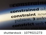 Small photo of constraint word in a dictionary. constraint concept