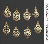 ornamental earring templates.... | Shutterstock .eps vector #1079041703