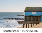 a hut at the beach  in shanklin ... | Shutterstock . vector #1079058707