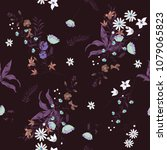 seamless trendy  pattern with... | Shutterstock .eps vector #1079065823