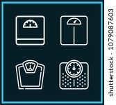 set of 4 scale outline icons... | Shutterstock .eps vector #1079087603