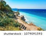 aegean coastline of city of... | Shutterstock . vector #1079091593