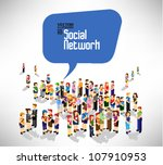 conceptual social network with... | Shutterstock .eps vector #107910953