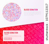 blood donation  charity  mutual ... | Shutterstock .eps vector #1079112317