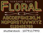 font alphabet script typeface...   Shutterstock .eps vector #1079117993
