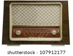 ancient radio  50's  isolated... | Shutterstock . vector #107912177