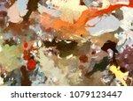 abstract watercolor texture...   Shutterstock . vector #1079123447