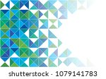 abstract triangle green... | Shutterstock .eps vector #1079141783