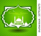 ramadan kareem or ramazan... | Shutterstock .eps vector #107914673