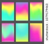 set of bright mesh gradiented...