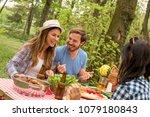 group of friends having fun... | Shutterstock . vector #1079180843