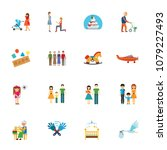 family stages collection....   Shutterstock .eps vector #1079227493