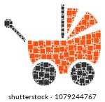 baby carriage composition icon... | Shutterstock .eps vector #1079244767