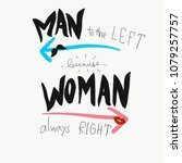 man to the left because woman...   Shutterstock . vector #1079257757