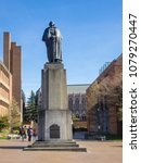 Small photo of Statue of George Washington at University of Washington in Seattle.