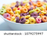 cereal bowl breakfast | Shutterstock . vector #1079275997