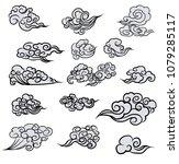 chinese cloud vector set.cloud... | Shutterstock .eps vector #1079285117