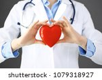 female doctor with stethoscope... | Shutterstock . vector #1079318927