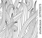 black white drawing of grass.... | Shutterstock .eps vector #107932073