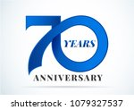70 years anniversary... | Shutterstock .eps vector #1079327537