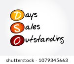 dso   days sales outstanding... | Shutterstock .eps vector #1079345663