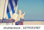 enjoy summer day at baltic sea...   Shutterstock . vector #1079351987