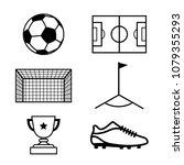 football  soccer icon  vector.   Shutterstock .eps vector #1079355293