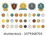 geometric compass icon | Shutterstock .eps vector #1079368703