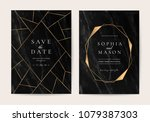 wedding invitation cards with... | Shutterstock .eps vector #1079387303