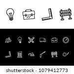 industrial icon set and pencil...