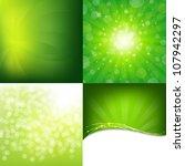 Green Nature Backgrounds Set ...