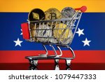 shopping trolley full of... | Shutterstock . vector #1079447333