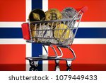shopping trolley full of... | Shutterstock . vector #1079449433
