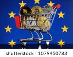 shopping trolley full of... | Shutterstock . vector #1079450783