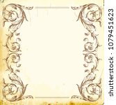 retro baroque decorations...   Shutterstock .eps vector #1079451623