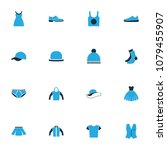 garment icons colored set with... | Shutterstock . vector #1079455907