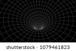 tunnel or wormhole. abstract... | Shutterstock .eps vector #1079461823