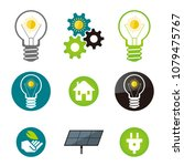 green energy  solar power icons.... | Shutterstock .eps vector #1079475767