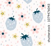 seamless pattern with... | Shutterstock .eps vector #1079476043
