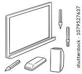 vector set of whiteboard and... | Shutterstock .eps vector #1079527637