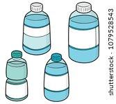 vector set of water bottle | Shutterstock .eps vector #1079528543