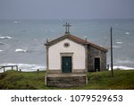 old chapel by the sea during... | Shutterstock . vector #1079529653