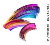 creative brush stroke clip art... | Shutterstock . vector #1079537867