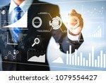 businessman analyzing a... | Shutterstock . vector #1079554427