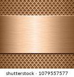 metallic background  polished... | Shutterstock .eps vector #1079557577