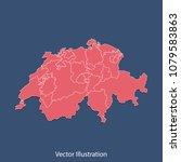 switzerland map   high detailed ...   Shutterstock .eps vector #1079583863