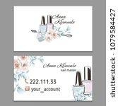 nail art  nail master  nail... | Shutterstock .eps vector #1079584427